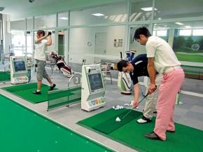 インドアゴルフ練習場でスイング診断!!